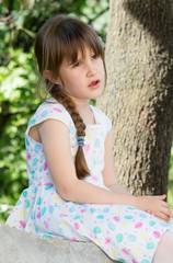 Alone little girl
