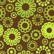 Vector floral background - seamless pattern in green