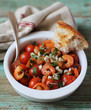 Mediterranean style roasted cherry tomatoes