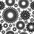 Vintage black white floral background Seamless pattern