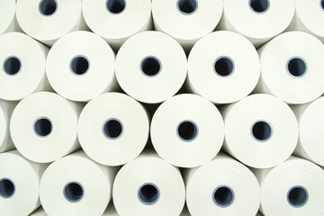 Background from paper rolls