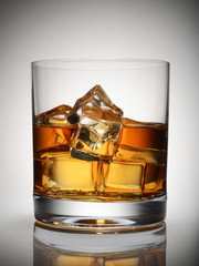 whiskey, ice