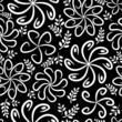 Black and white vintage flower pattern