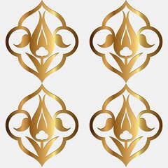 Altın Rumi Lale Deseni