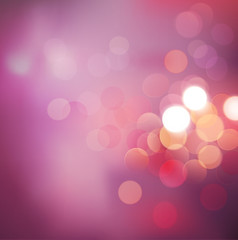 Bokeh background with pink classic tone background, Vector illus