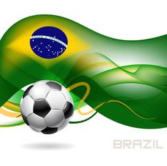 brasilianische Flagge Fußball