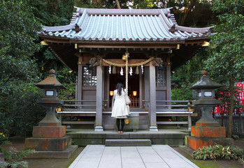 Shinto shrine in Kamakura, Japan.