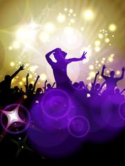 Disco party. Vector