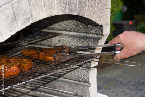 canvas print picture Grillen