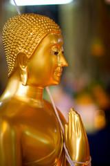 Thai Buddha Golden Statue. Buddha Statue in Thailand