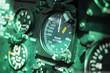 Cockpit mit analogen Anzeigen