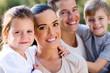 family closeup portrait