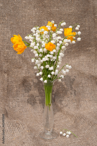Deurstickers Lelietje van dalen still life bouquet