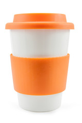 Orange thermos