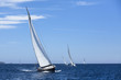 Luxury yachts. Boats in sailing regatta.