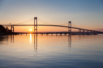 Newport Bridge Sunrise