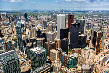 Aerial view of the Toronto skyline