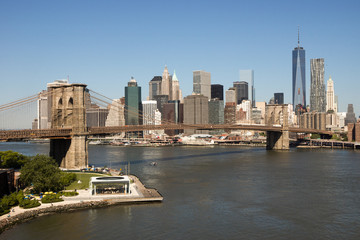 Brooklyn Bridge Skyline Manhattan
