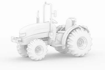 Tractor VI - white isolated
