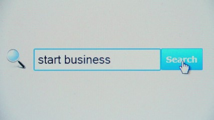 Start business - browser search query, Internet web page