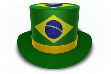 Brazil Flag Top Hat