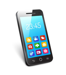 Vector mobile phone or smartphone