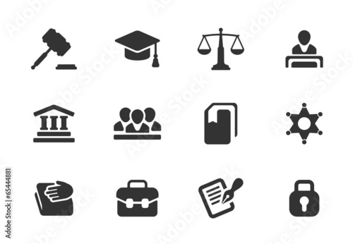Set of law and justice icons - 65444881