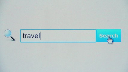 Travel - browser search query, Internet web page