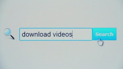 Download videos - browser search query, Internet web page