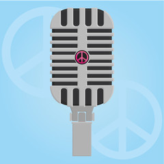 Abstract Microphone Icon Isolated On Background