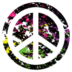 Abstract Peace Icon Isolated On Background