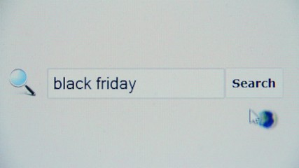 Black friday - browser search query, Internet web page