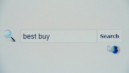 Best buy - browser search query, Internet web page