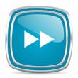 rewind blue glossy icon