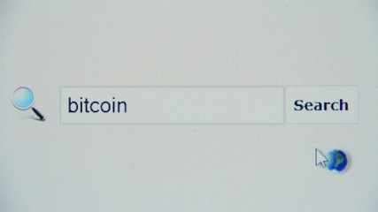 Bitcoin - browser search query, Internet web page