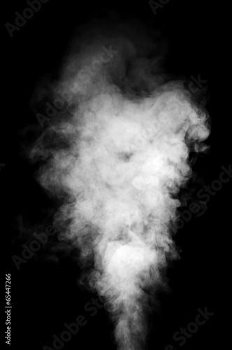 Leinwandbild Motiv White steam on black background.