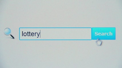 Lottery - browser search query, Internet web page