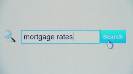 Mortgage rates - browser search query, Internet web page