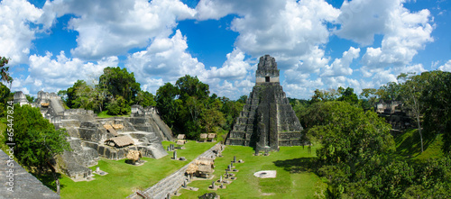 Canvas Rudnes Guatemala Tikal - Panorama View of Ruins