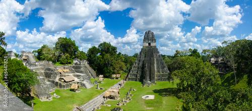 Guatemala Tikal  - Panorama View of Ruins - 65447824