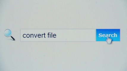 Convert file - browser search query, Internet web page
