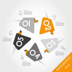 orange infographic template