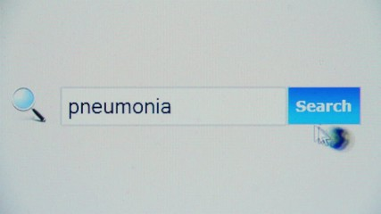 Pneumonia - browser search query, Internet web page