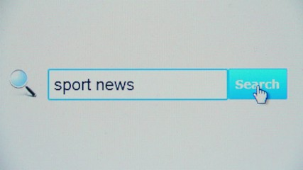 Sport news - browser search query, Internet web page