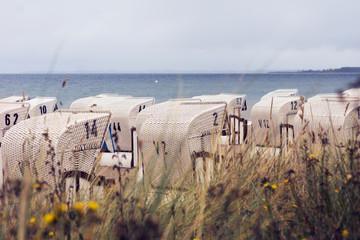 Basket Chairs on baltic beach