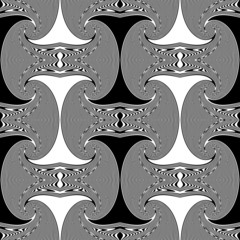 Design seamless whirl movement geometric pattern