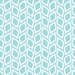Retro Seamless Pattern Lemons Turquoise