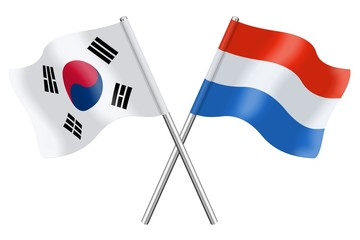 Flags : South Korea and Luxembourg