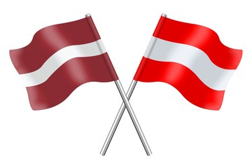 Flags : Latvia and Austria