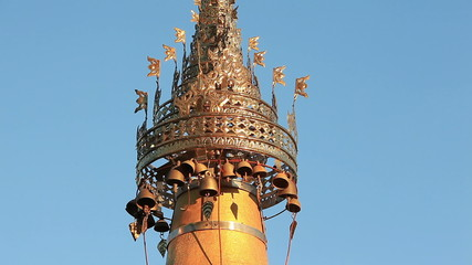 Bells of Shwe Inn Thein Pagoda, Indein, Myanmar.